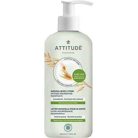 ATTITUDE Nourishing Body Lotion for Dry & Sensitive Skin, With Soothing Oatmeal, Dermatologist-tested & Hypoallergenic, EWG Verified Body Moisturizer, Avocado Oil, 16 Fl. Oz. (60853)