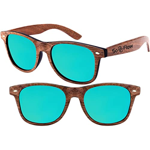 0dc3cdacbc SoFlow Polarized Walnut Wood Sunglasses for Men and Women - Wooden -  Wayfarer