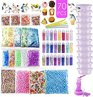 Slime Supplies Kit Slime Add Ins, Slime Kit for Girls and Boys Includes Unicorn Slime Charms, Glitter Sheet Jars, Foam Bal...