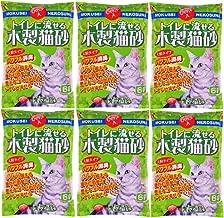 常陸化工 トイレに流せる木製猫砂 6L×6個 (ケース販売)