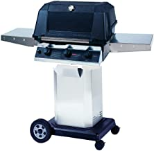 Mhp Whrg4dd Freestanding Hybrid Natural Gas Grill W/ Searmagic Grids On Stainless Cart