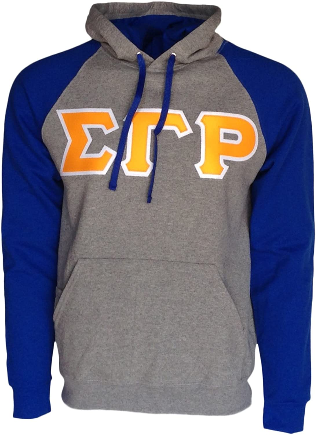 Mega_Greek Womens Sigma Gamma Rho color Block Hooded Sweatshirt