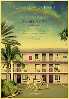 GZSBYJSWZ ホームウォールアートデコレーションペインティングポスターアートウォールピクチャーアメリカンドラマ映画フロリダプロジェクトキャンバスペインティングポスター-50X70Cmx1フレームなし