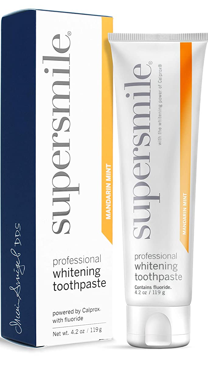 気まぐれな窓交渉するSupersmile - Professional Teeth Whitening Toothpaste Mandarin Mint (4.2 oz.)
