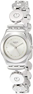 Swatch Women's Analogue Quartz Watch with Stainless Steel Strap YSS317G