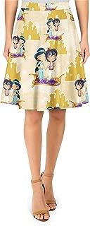 Rainbow Rules Magic Carpet Flight Aladdin Disney Inspired A-Line Skirt
