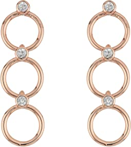 Chain Reaction Delicate Linear Earrings