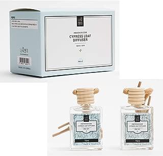Namoo&Me Phytoncide Thuja&Hinoki Cypress Essential Oil Diffuser Aromatheraphy Fragrance Car Diffuser Hanging Air Freshener Set, 2EA