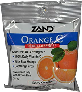 Zand Lozenges Hrbl Vitc Orange