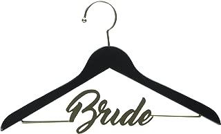 David Tutera 30021641 Dirt Black and Gold Bride Chalkboard Hanger,