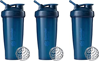 BlenderBottle Classic Loop Top Shaker Bottle 3-Pack, 28 oz (Navy)