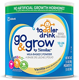 Go & Grow By Similac Milk Based Toddler Drink, Vanilla, Powder, 1.5lbs