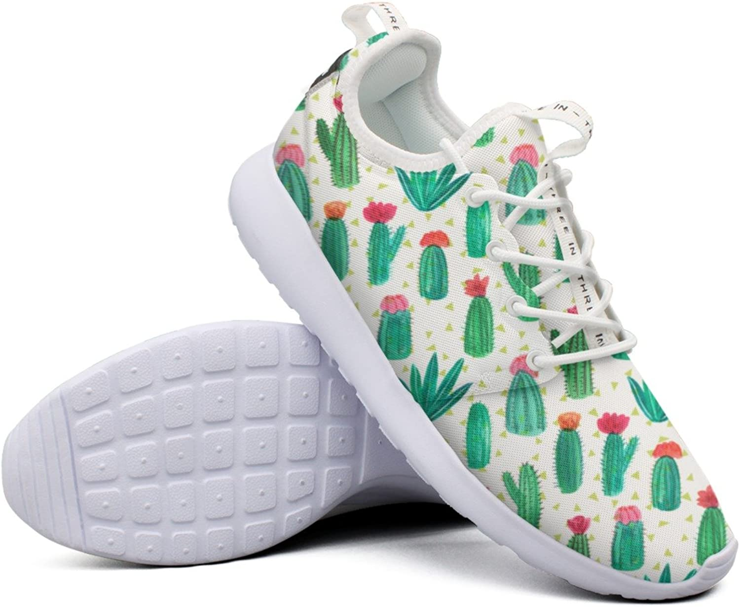 Women Girls The Flowering Cactus colorful Printing Novelty Casual Running shoes
