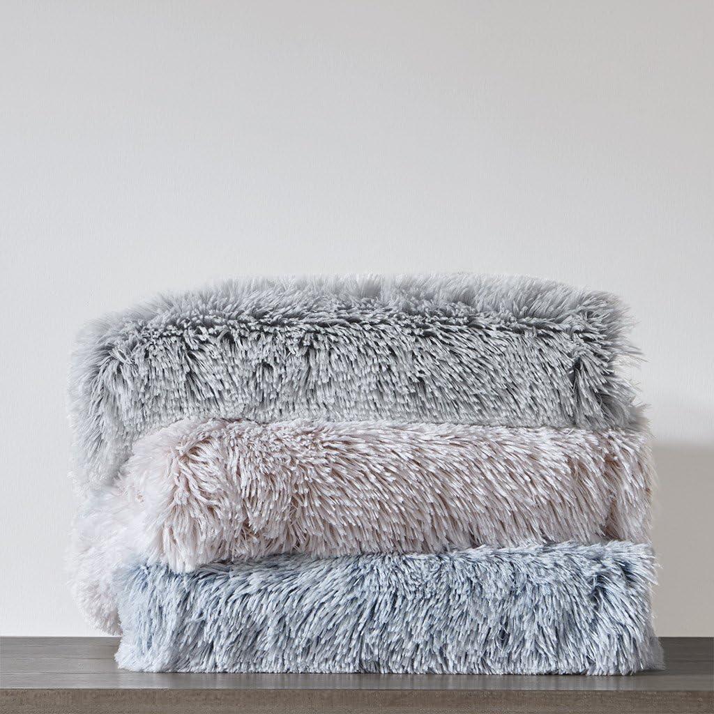 Intelligent Design Emma Super Soft Luxury Cozy Shaggy Faux Fur Long Hair Decorative Throw Blanket 50 X60 Blush Amazon Ca Home Kitchen