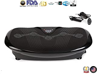 GLOBAL RELAX Zen Shaper Plus Vibration Plate - Black (2019 New Model) - Fitness oscillating Vibration Platform – MP3 Music – 3 Exercise Areas (Walk-Jogging-Running) - 2 Years Official Warranty US
