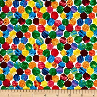 Andover BI-250 The Very The Very Hungry Caterpillar Abstract Dots Multi Fabric by the Yard