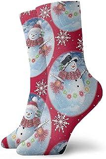 Dydan Tne, Niños Niñas Loco Divertido Muñeco de Nieve en Calcetines de Bola de Cristal Calcetines Lindos de Vestir de Novedad