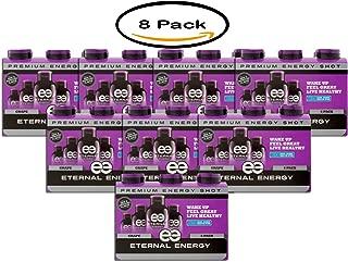 PACK OF 8 - Eternal Energy Premium Energy Shot, Grape, 1.93 fl oz, 6 count