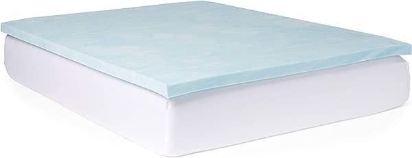 Slumber Solutions Gel 2 Inch Memory Foam And 1 5 Inch Fiber Mattress Topper Queen