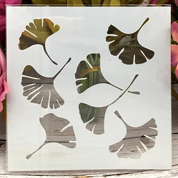 Amazon.com : Stencils for Painting ,Painting Stencils ,8Pcs 5Inch Tree Leaf Ginkgo Wooden Bud DIY Layering Stencils Painting Scrapbook Coloring Embossing Album Decorative Template : Arts, Crafts & Sewing