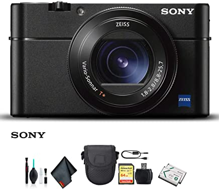 $797 Get Sony Cyber-Shot DSC-RX100 VA Camera DSC-RX100M5A/B with Soft Bag, Additional Battery, 64GB Memory Card, Card Reader, Plus Essential Accessories