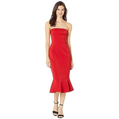 BB Dakota Light My Fire Strapless Dress (Bright Red) Women