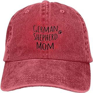 Unisex Vintage Washed Baseball Cap German Shepherd Dog Mom Cotton Adjustable for Men Women
