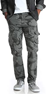 Anthracite Camo Regular Taper Stretch Cargo Pants