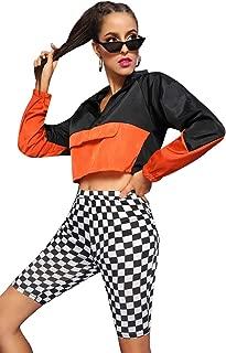 Milumia Women's Sexy Deep V Neck Cross Wrap Slim Fit Crop Tops