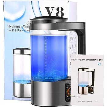 SEAAN 高濃度水素水生成器 水素水生成器 還元水生成器 水素水ボトル 2L大容量 最大濃度1200PPB LEDタッチ画面 恒温器機能 美容 健康 睡眠改善 家庭用 オフィス用