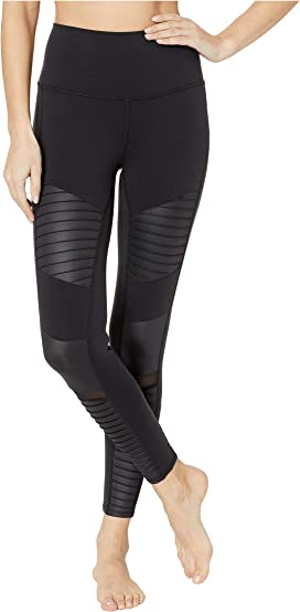 74ad6fd209 ALO High Waisted Moto Leggings at Zappos.com