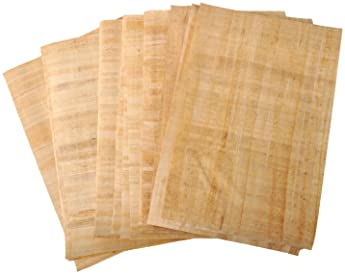 Egyptian Papyrus Blank Paper Set of 10 Sheets for Art Projects Scrapbooking Album Refill Scrolls and Teaching Ancient...