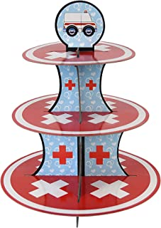 Doctor Cupcake Stand & Pick Kit, Nurse Party Supplies, Doctor Decorations, Birthdays, Ambulance, Medical Theme, Graduation...