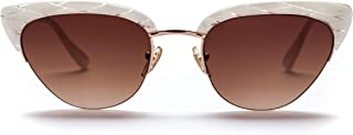 Sunday Somewhere Women's Pixie Wrap Sunglasses, Mother Of Pearl, 56 mm