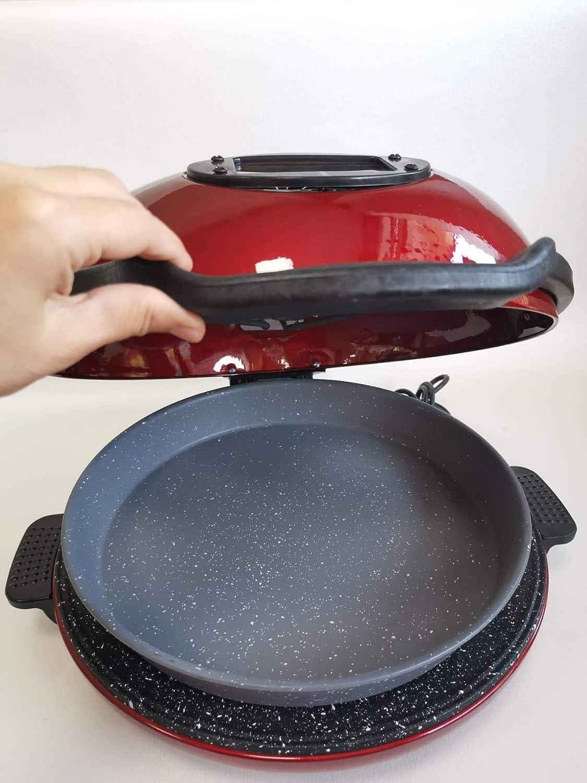 Tandirim Pizza-Maker Fladenb/äcker Brotb/äcker Multifunktionalofen Granitbeschichtet Rot