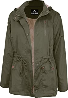 Women's Quilted or Inner Fur Lined Sherpa Anorak Down Parka Jacket
