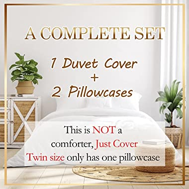Castle Fairy Bright Moon Duvet Cover 3 Pieces,Mystery Galaxy Nebula Comforter Cover,Rippling Lake Trees Reflection Ultra Soft