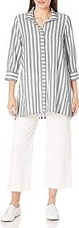 Foxcroft womens Skye Stripe Tunic Tunic Shirt