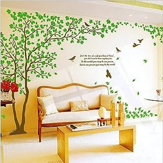 Rainbow Fox Adhesivo mural grande, diseño de árboles, color marrón y negro