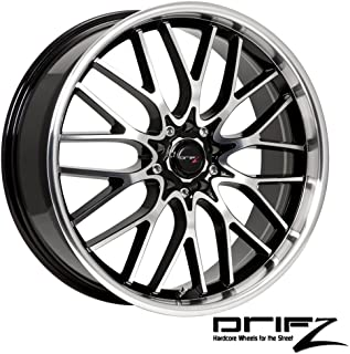 Drifz Vortex 18x8 Machined Black Wheel / Rim 5x100 & 5x4.5 with a 35mm Offset and a 73.00 Hub Bore. Partnumber 302MB-8801835