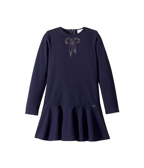 Lanvin Kids Long Sleeve Dress with Embellished Bow Detail (Little Kids/Big Kids)