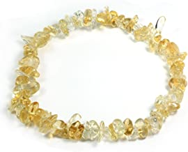 CrystalAge Citrine Gemstone Chip Bracelet