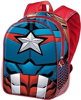 Capitán América Civil War-Mochila 3D (Pequeña), Negro