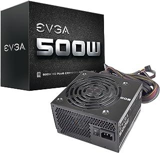 EVGA 500 W1, 80+ WHITE 500W, 3 años de garantía, fuente de alimentación 100-W1-0500-K2