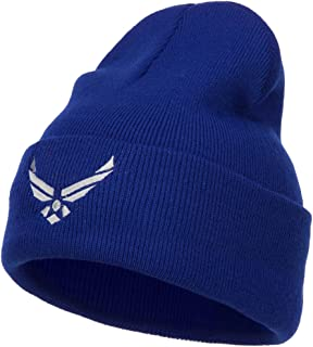 e4Hats.com US Air Force Silver Logo Embroidered Long Beanie