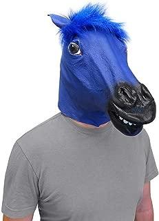 Costume Cosplay Halloween Blue Bronco Horse Head Face Mask (The Original)