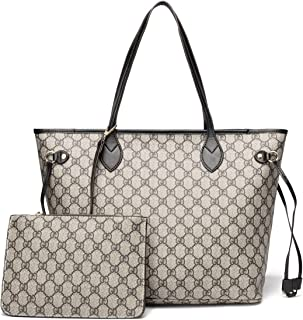 Satchel Purses and Handbags for Women Shoulder Tote Bags Wallets Top Handle Messenger Hobo 2pcs Set