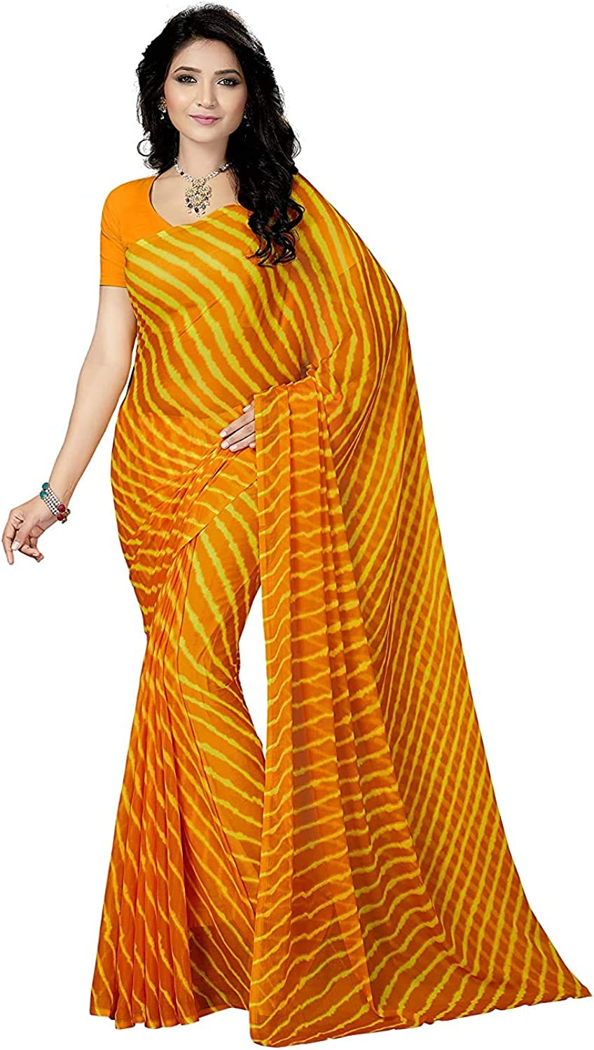 Raleigh Mall Women's Chiffon Saree Without Blouse Piece Dresses Ethnic Indian Popular popular
