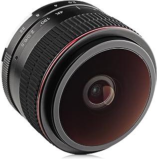 Opteka 6.5mm f/2 HD MC Manual Focus Fisheye Lens for Panasonic Micro 4/3 Mount Digital Cameras
