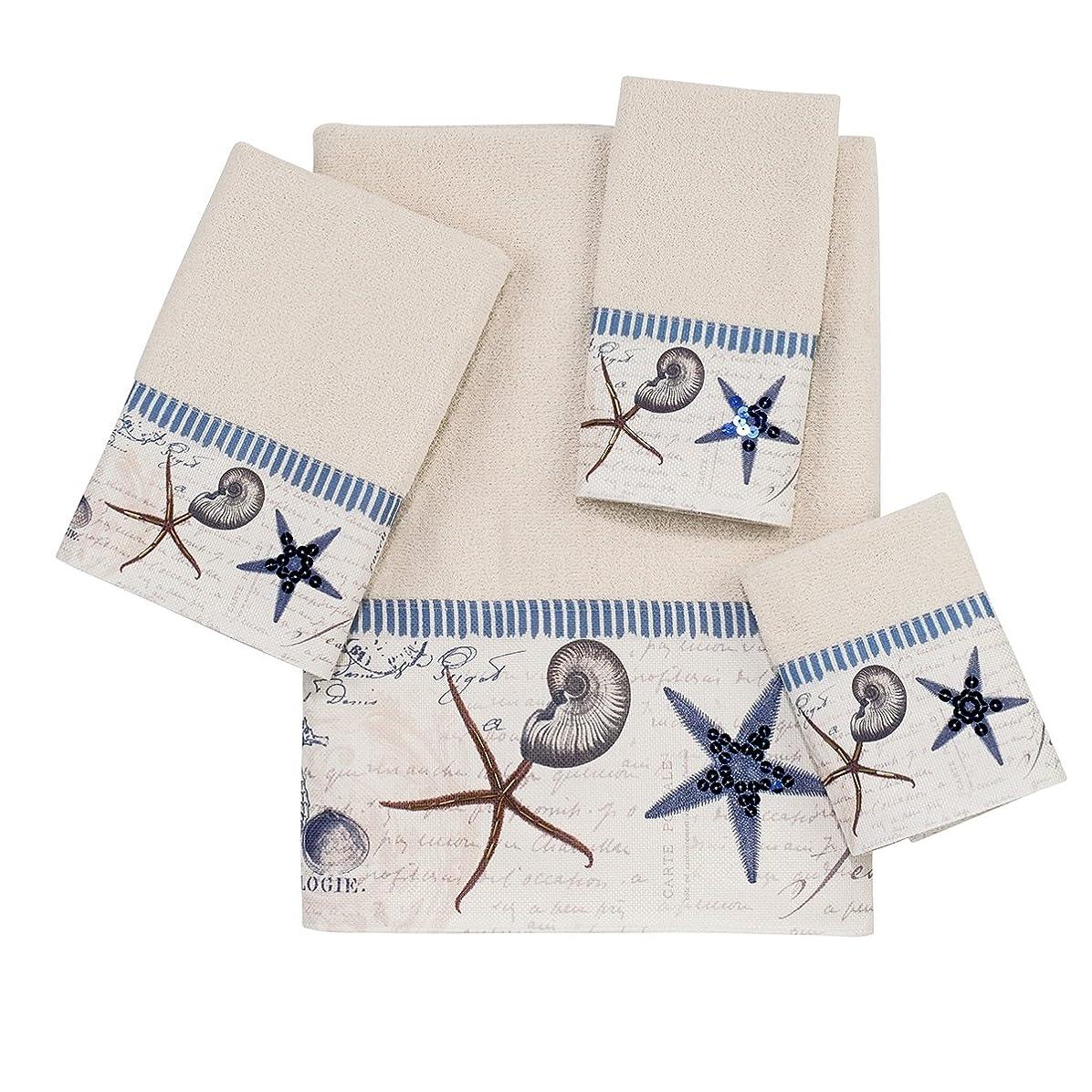 気性ペック女性Avanti Linens Antigua 4-Piece Towel Set, Includes 1 Bath, 1 Hand, 1 Wash and 1 Fingertip Towel, Ivory